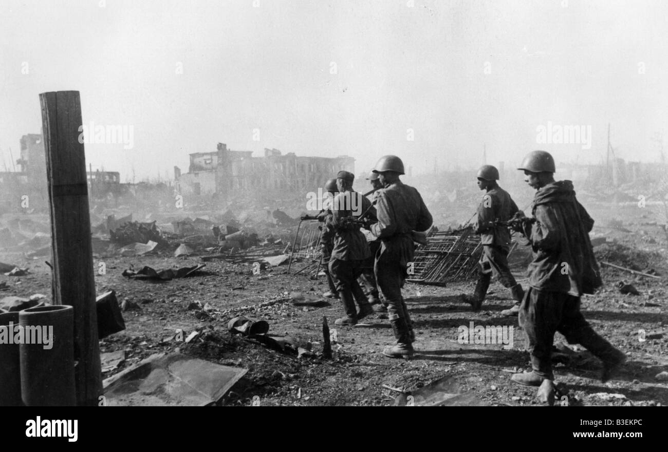World War Two / Stalingrad / 1942 - Stock Image