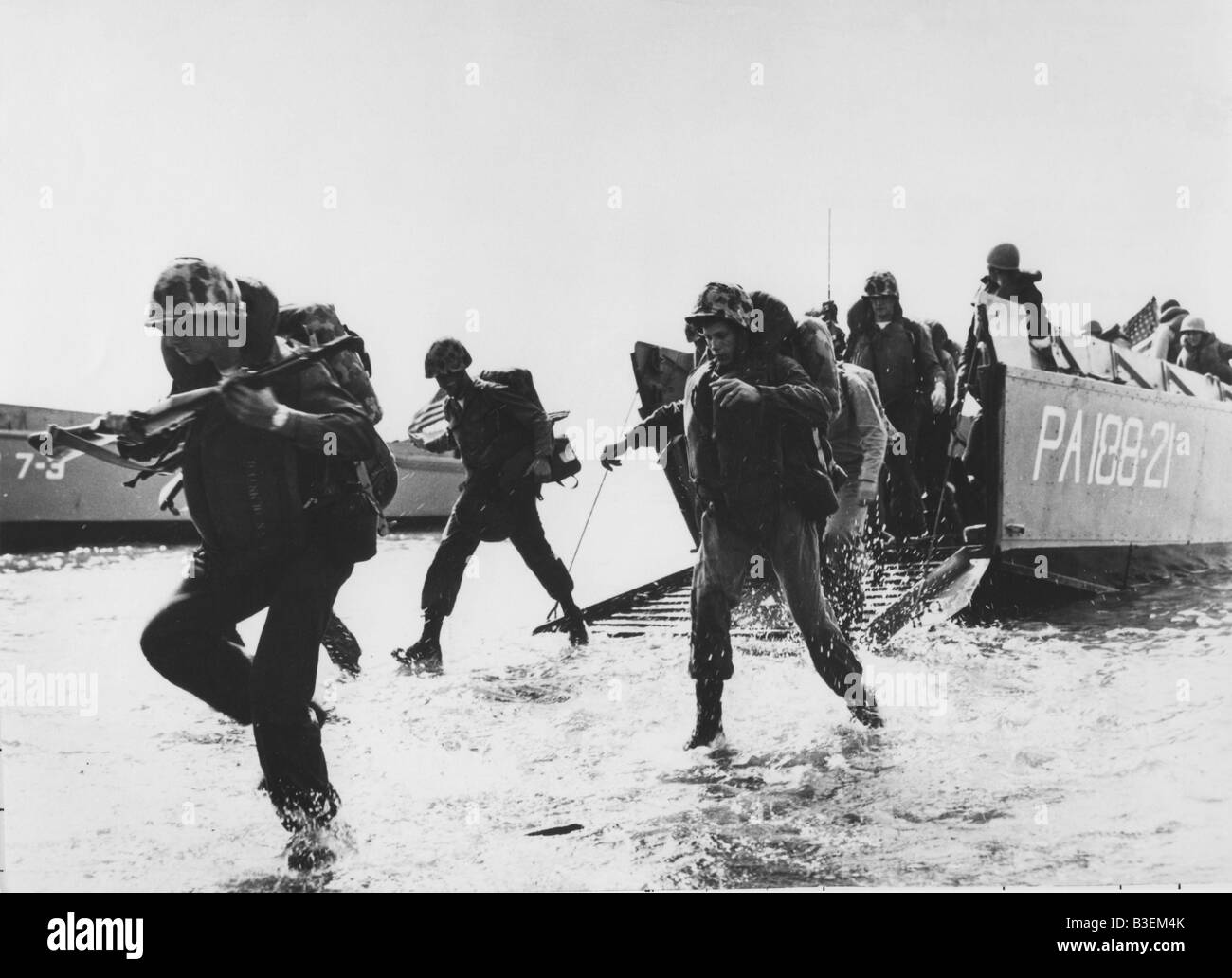 Allied invasion in Normandy 1944. - Stock Image