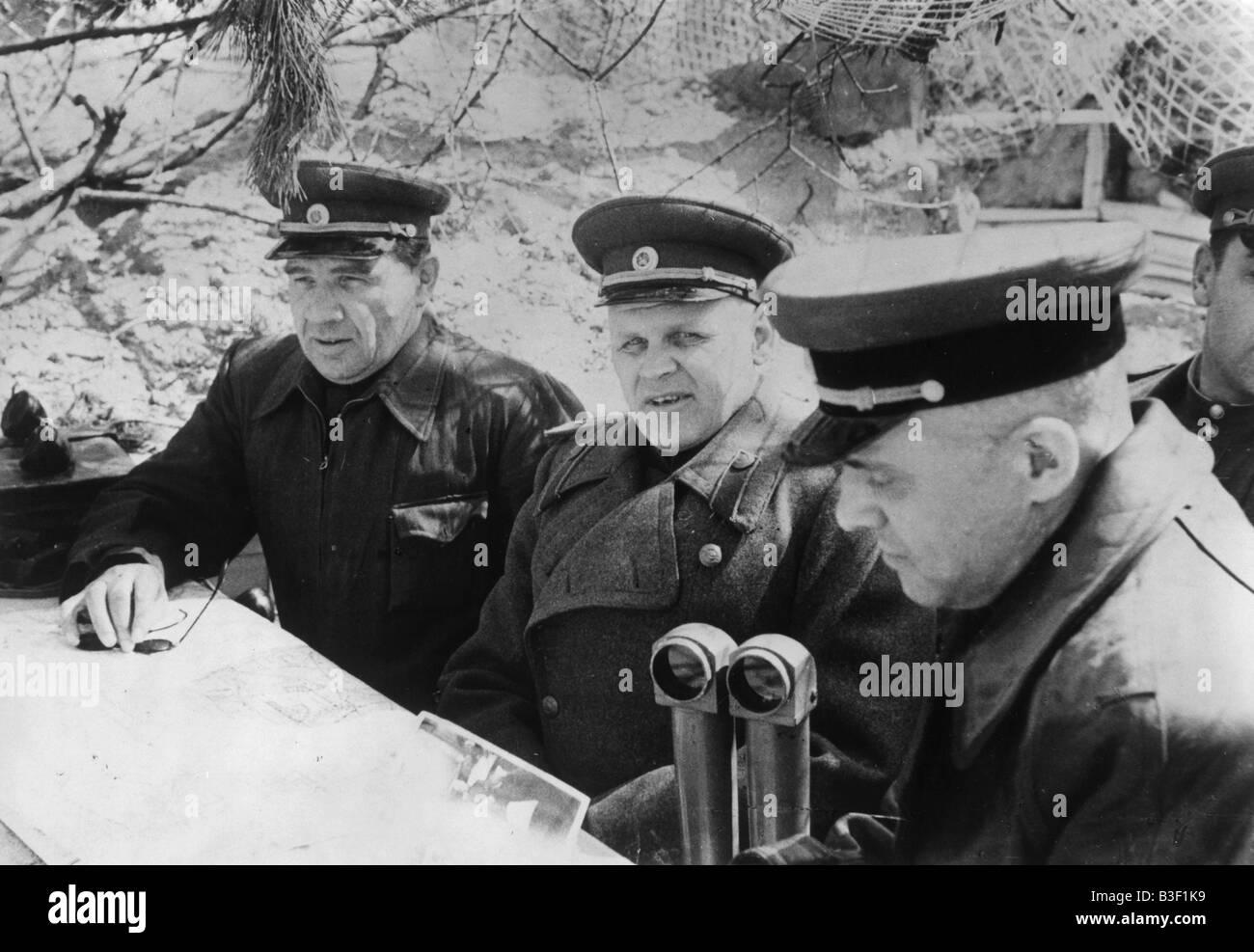 WW2, Telegin, Kasakow, Chuikov 1945 - Stock Image