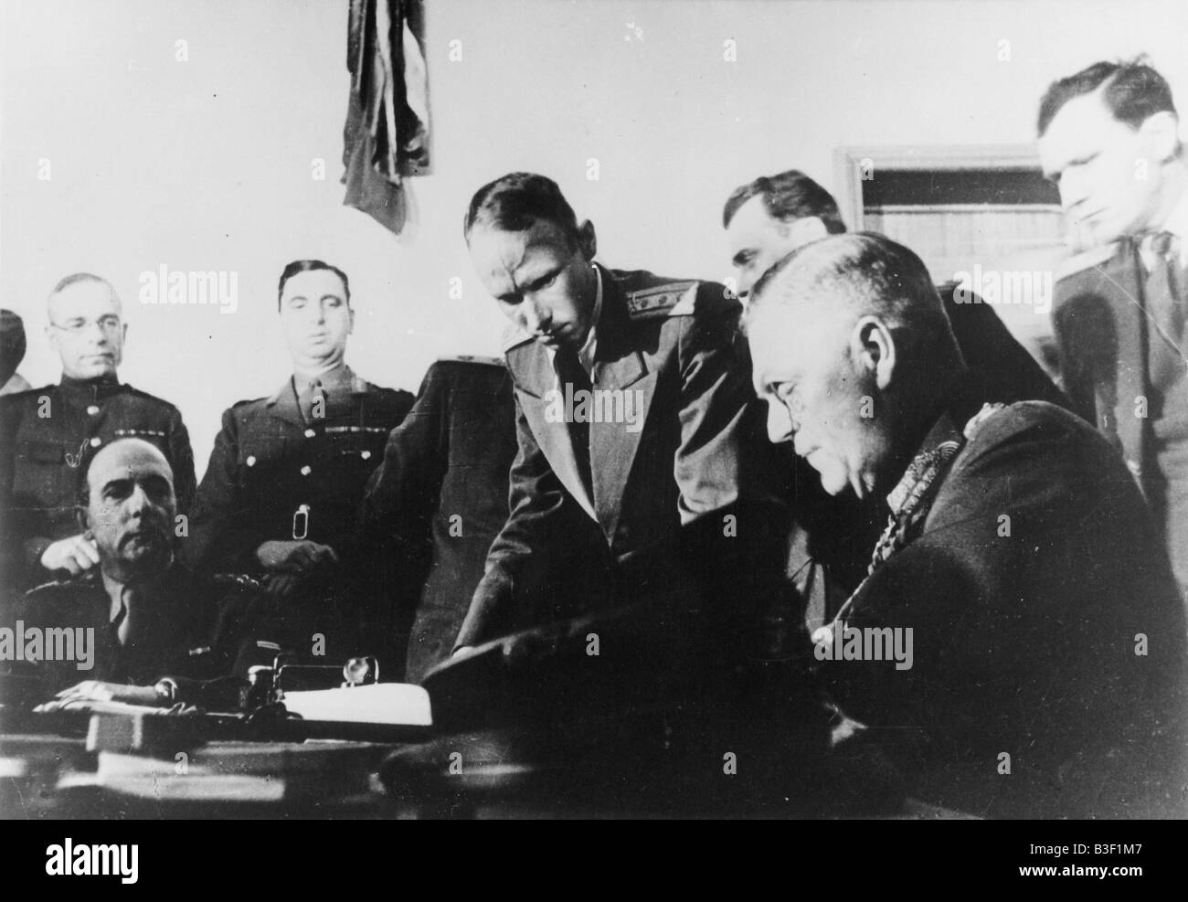 WW2/German Surrender/Berlin/Keitel. - Stock Image