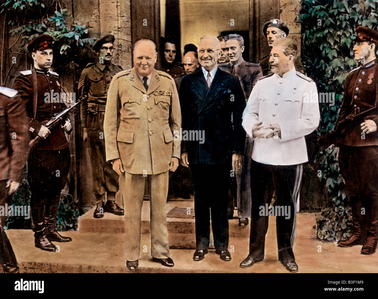 Potsdam Conference 1945. - Stock Image