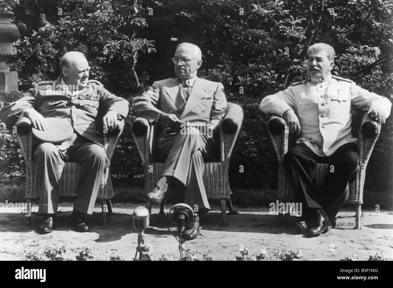 Potsdam Conference. - Stock Image