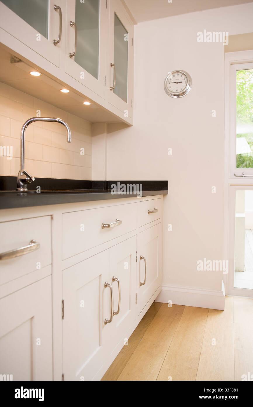 Empty kitchen - Stock Image