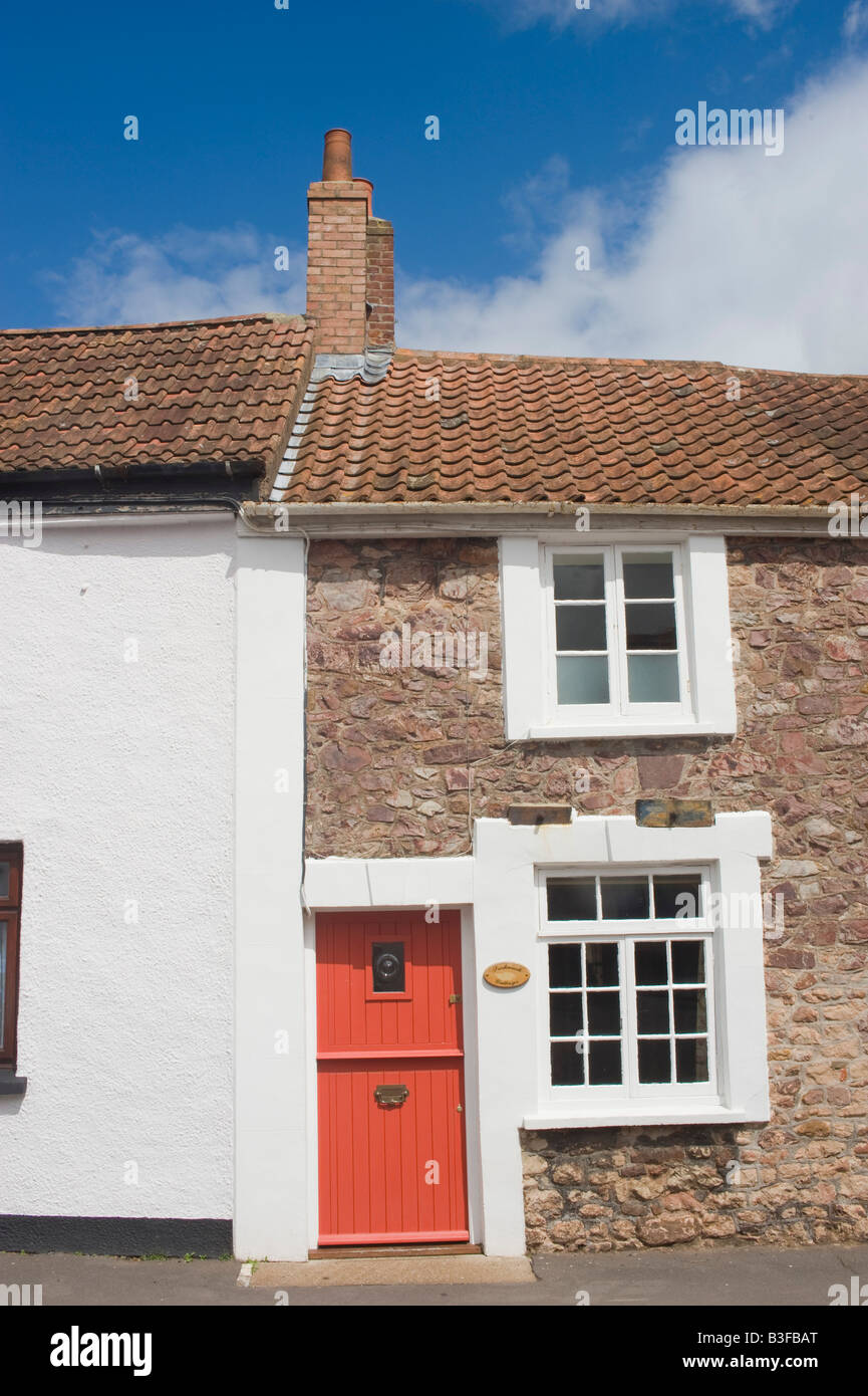 A holiday cottage in the village of Nether Stowey in Somerset England UK - Stock Image