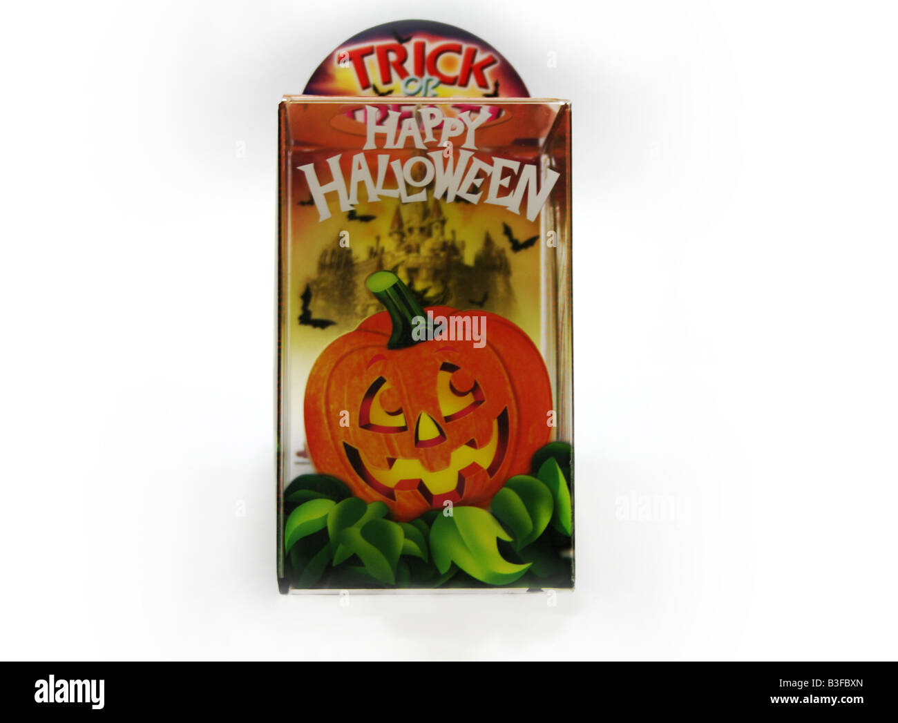 Trick Or Treat Happy Halloween Stationery Holder With Picture Of A Smiling Pumpkin For Children Adults At Home Or Office Use