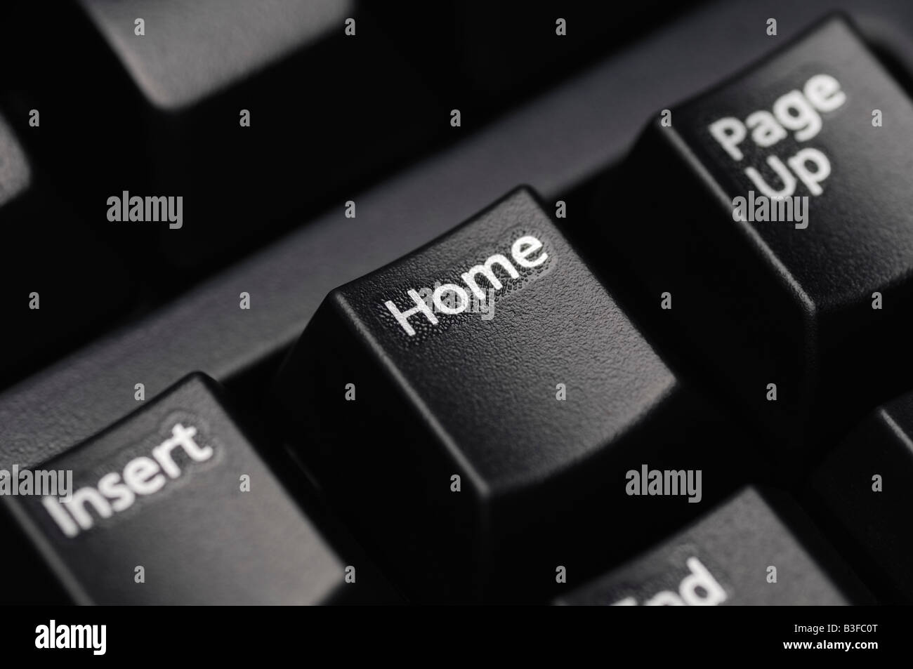 Computer Keyboard Close Up Showing the Home Key - Stock Image