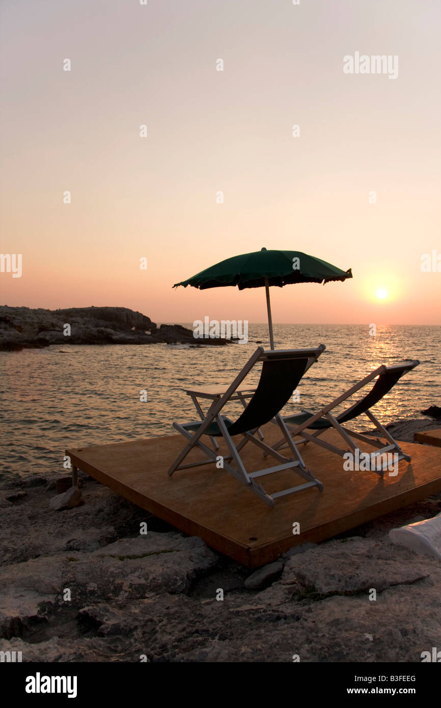 last resort on the rocks vacation concept from the island of san domino tremiti island ardiatic sea gargano foggia - Stock Image