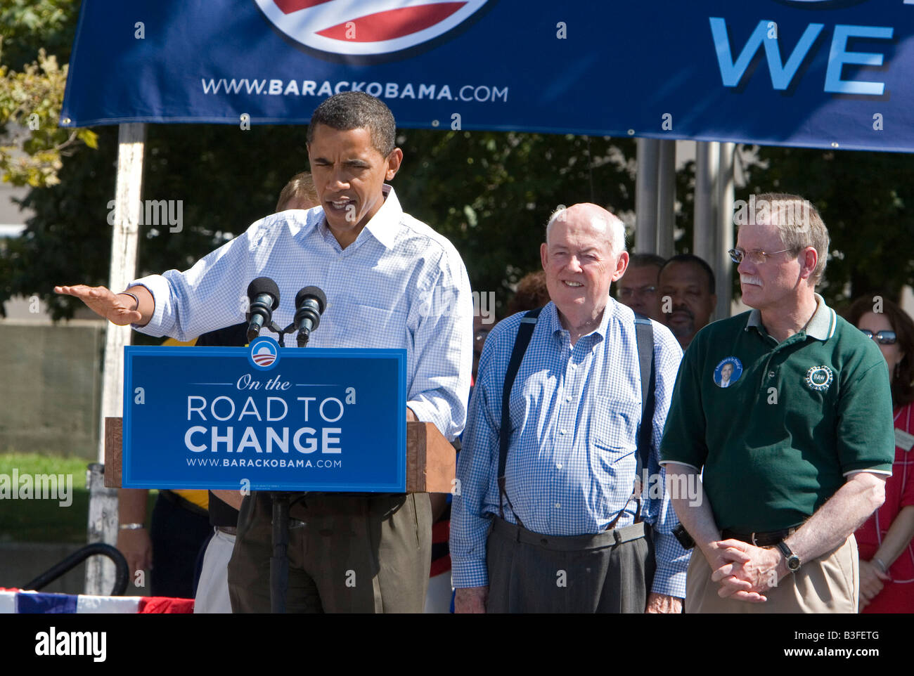 Labor Day Rally for Barack Obama - Stock Image