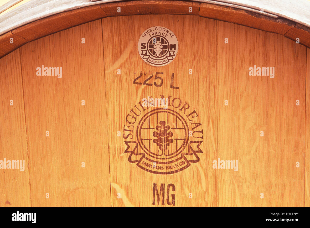 French oak wine barrels S Anderson Winery Napa Valley California - Stock Image