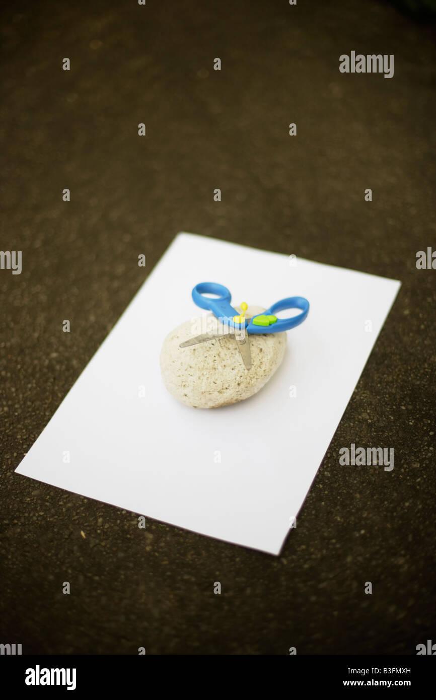 Rock Scissor Paper - Stock Image