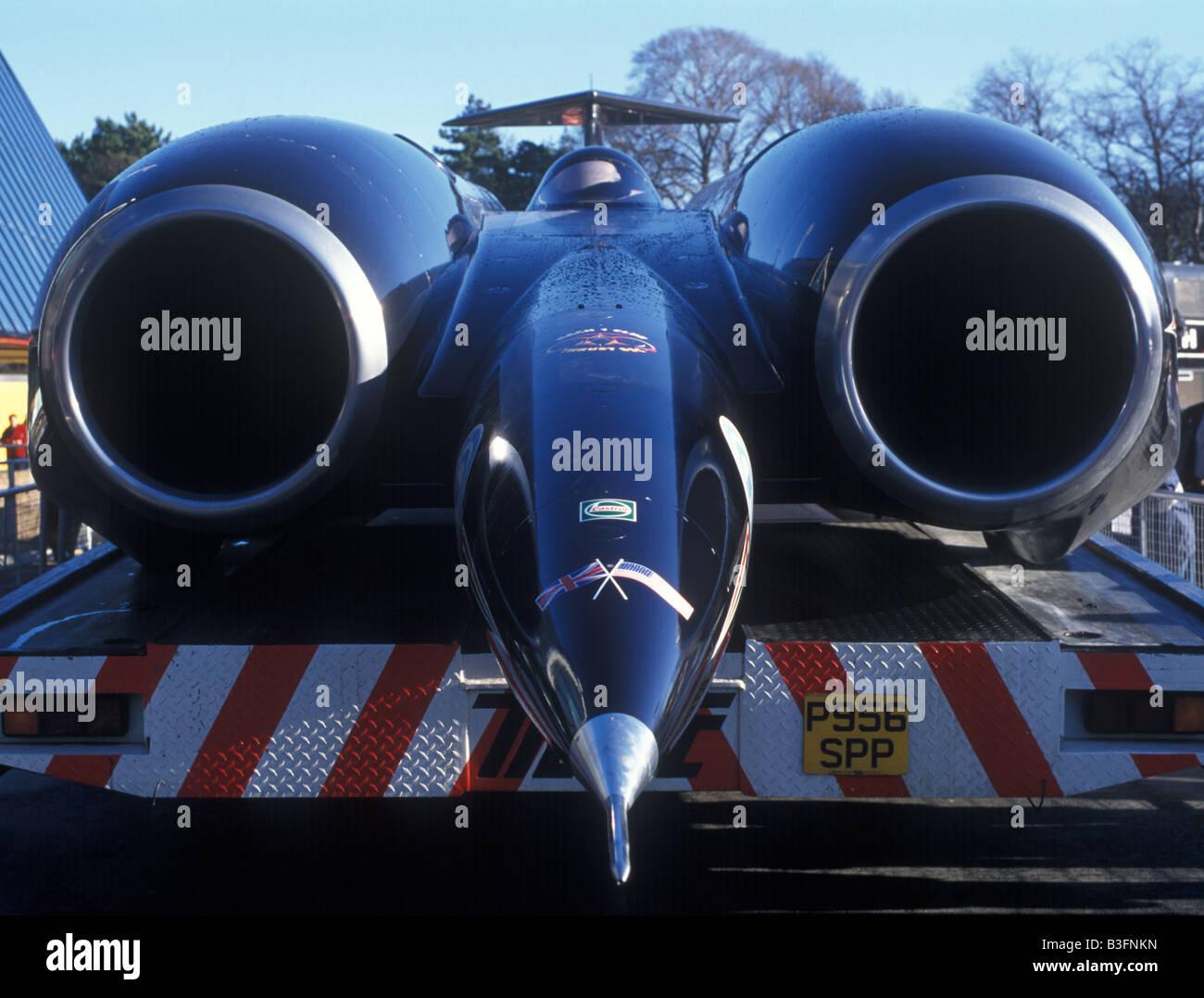 Thrust SSC world land speed record 763.035 mph mach 1.02 - Stock Image