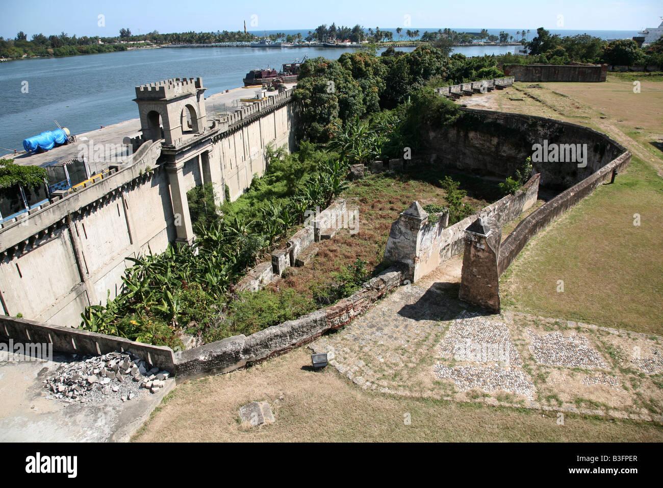 Fortaleza Ozama in the Zona Colonial of Santo Domingo, Dominican Republic Stock Photo