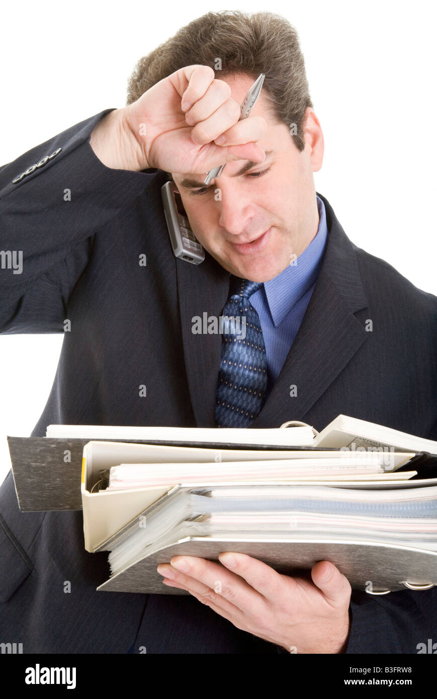 manager calling stressful - Stock Image