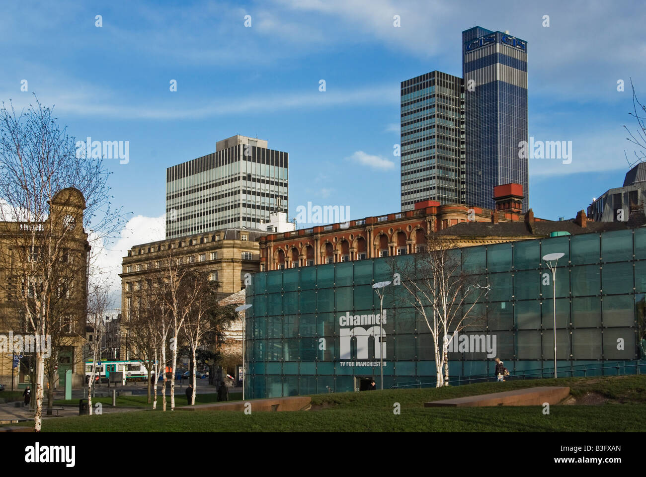 Manchester Northern Quarter, Millenium Gardens - Stock Image