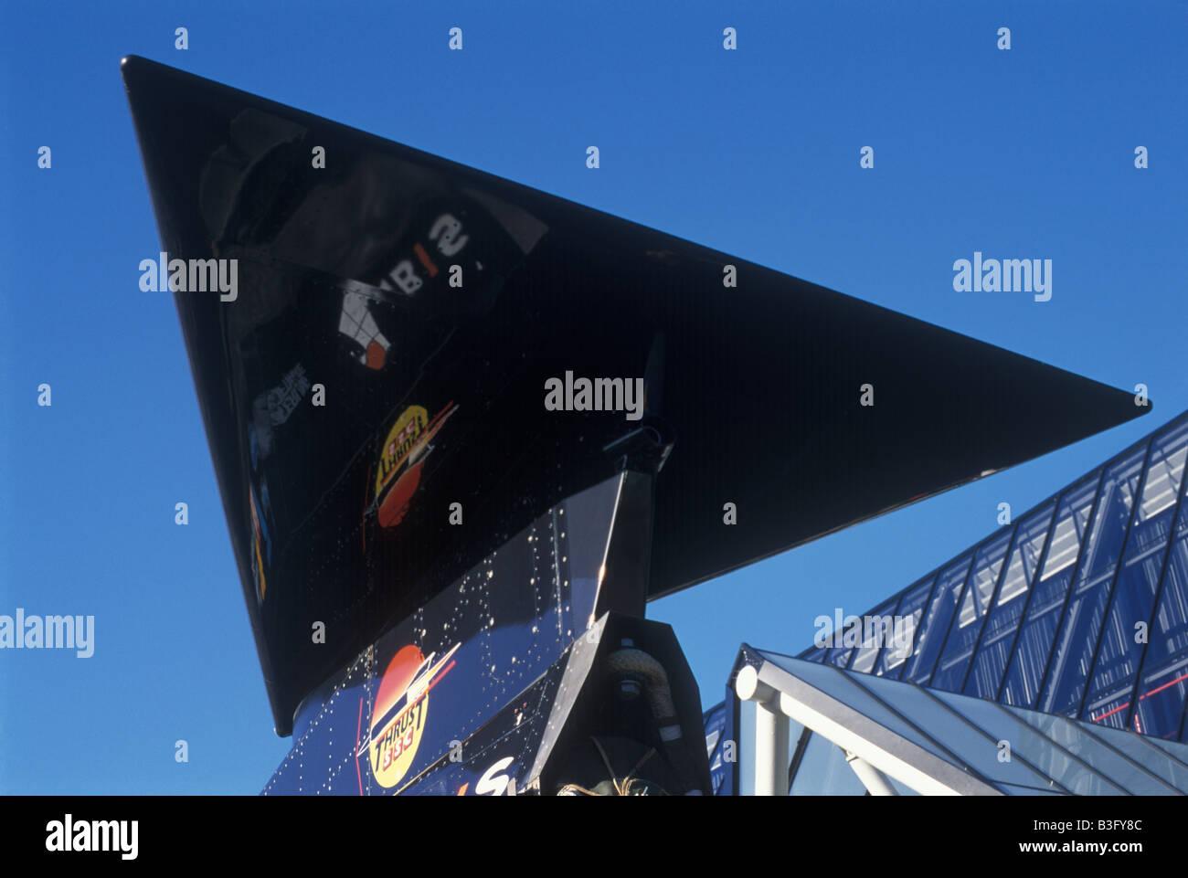 Thrust SSC world land speed record 763.035 mph mach 1.02 Stock Photo