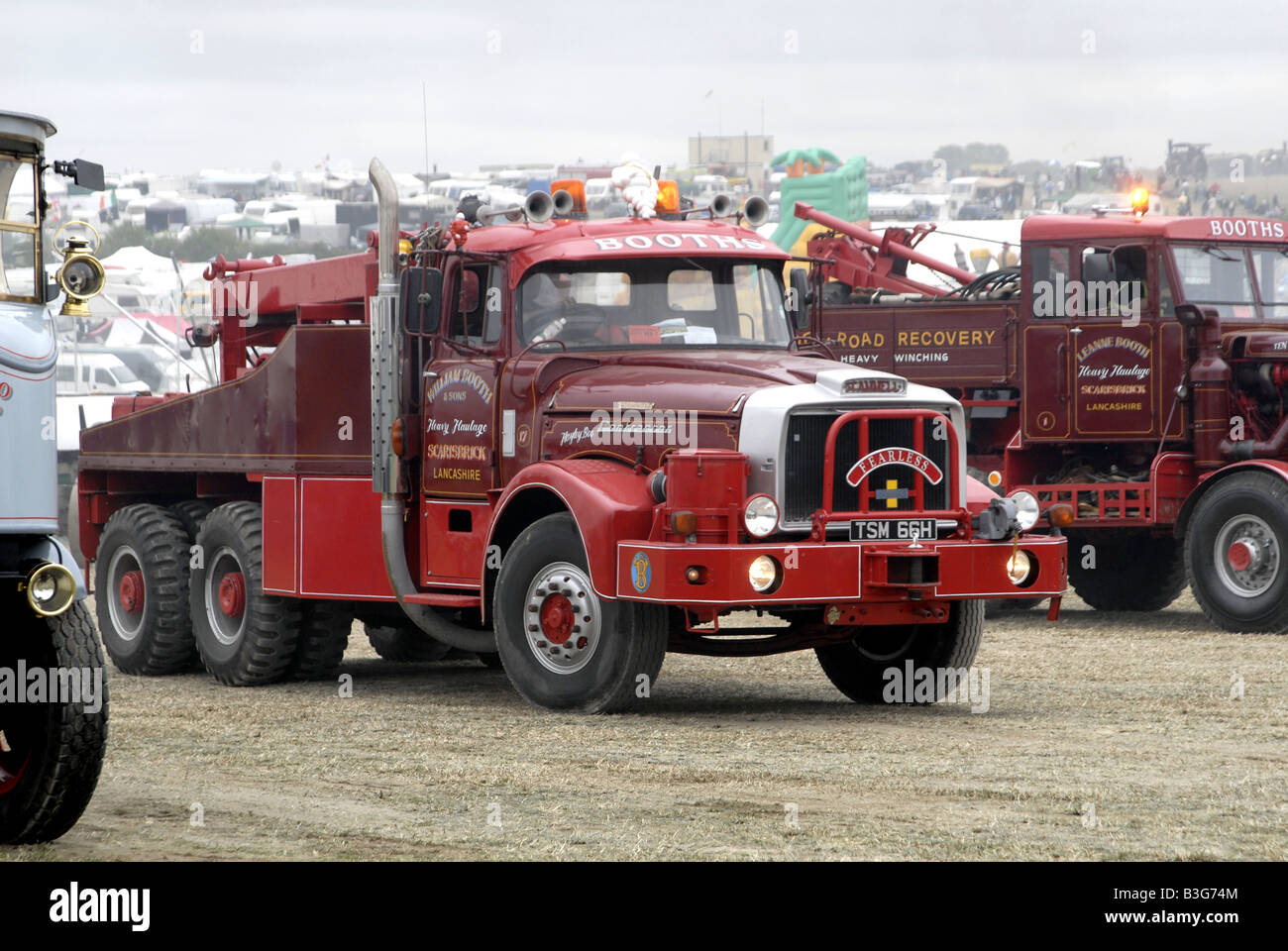 Scammell heavy haulage tractor in show arena - Stock Image