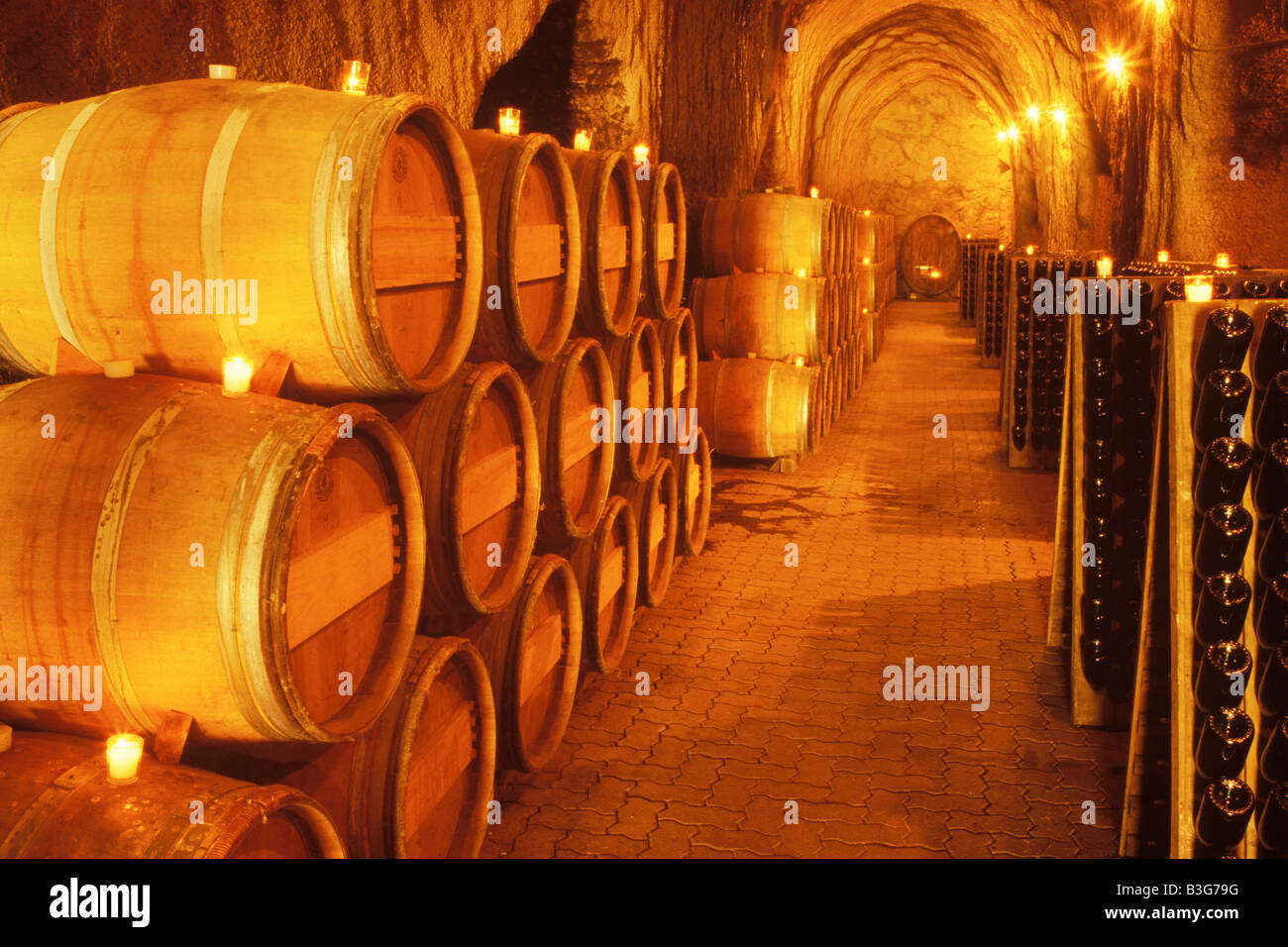 champagne caves S Anderson Winery Napa Valley California - Stock Image