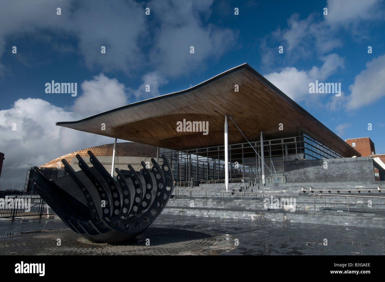 Welsh Assembly Senedd Building Stock Photo