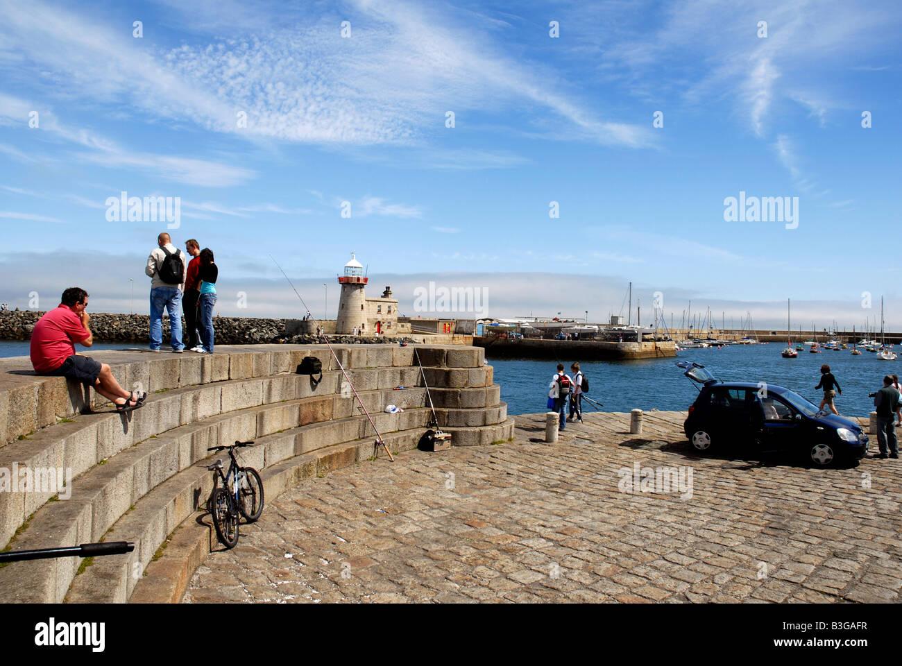 Howth harbour Irish sea Co Dublin Ireland - Stock Image