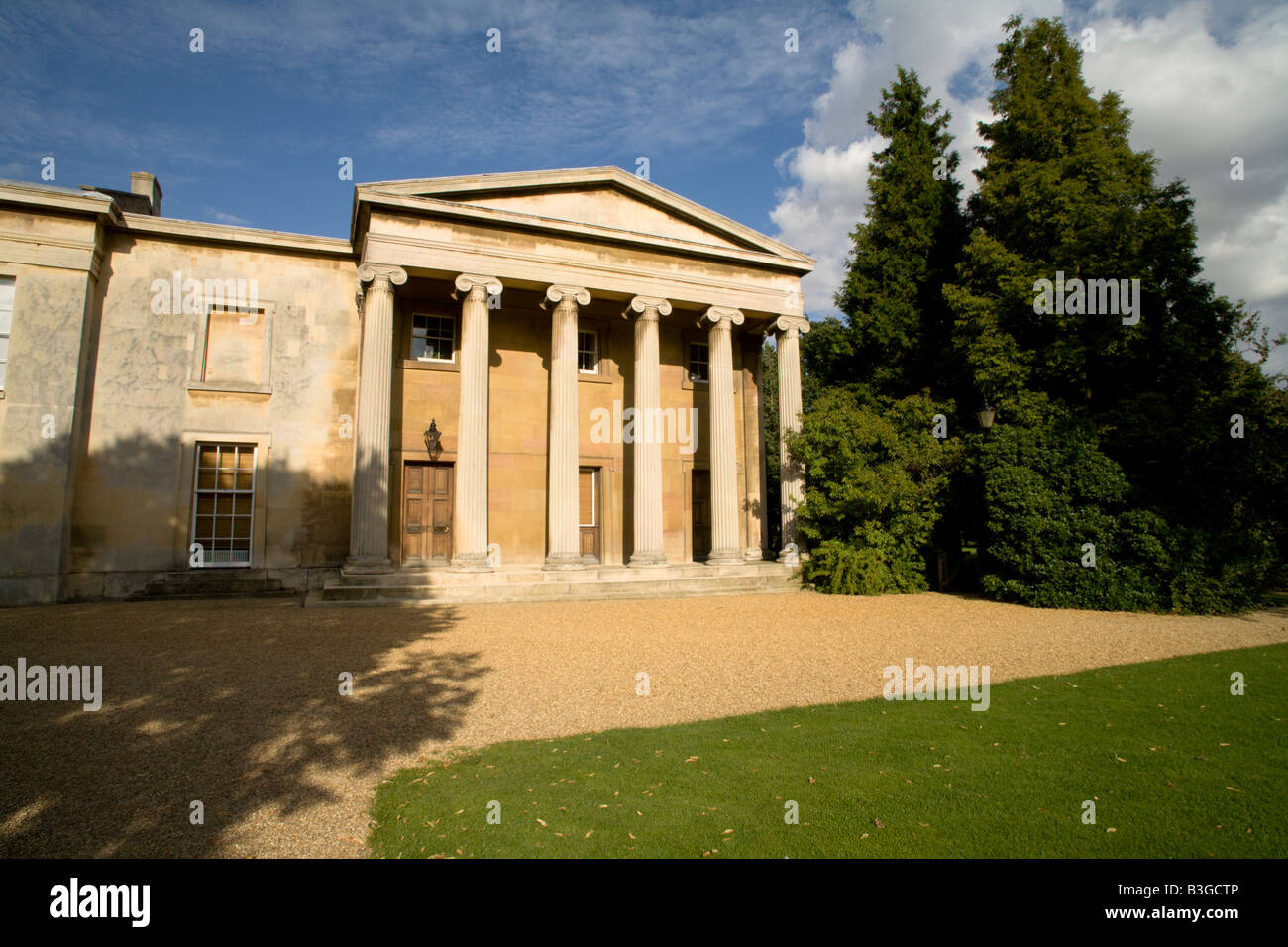 The Master's Lodge, Downing College, Cambridge, England in afternoon sunshine - Stock Image