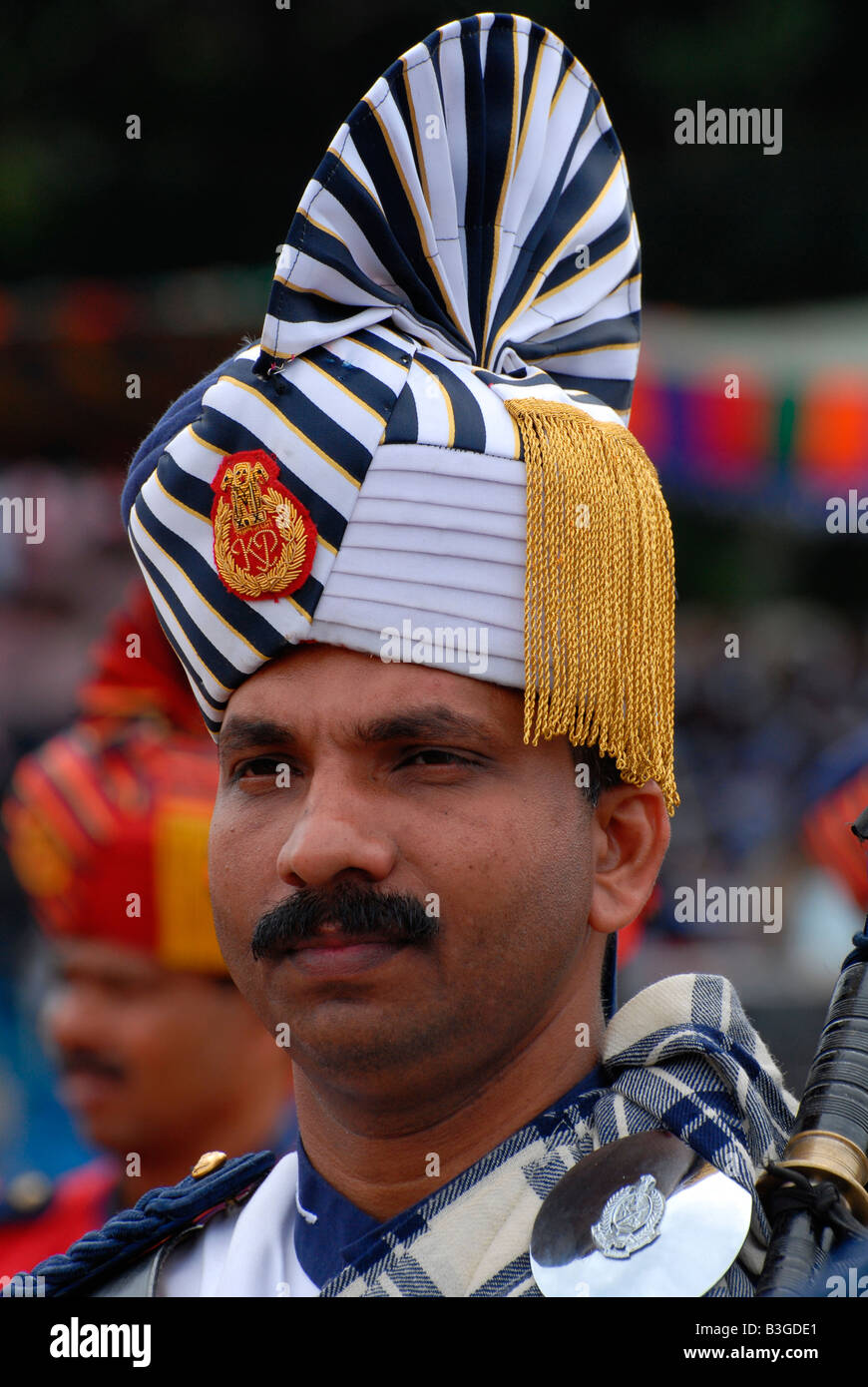 A constable in police band,india - Stock Image
