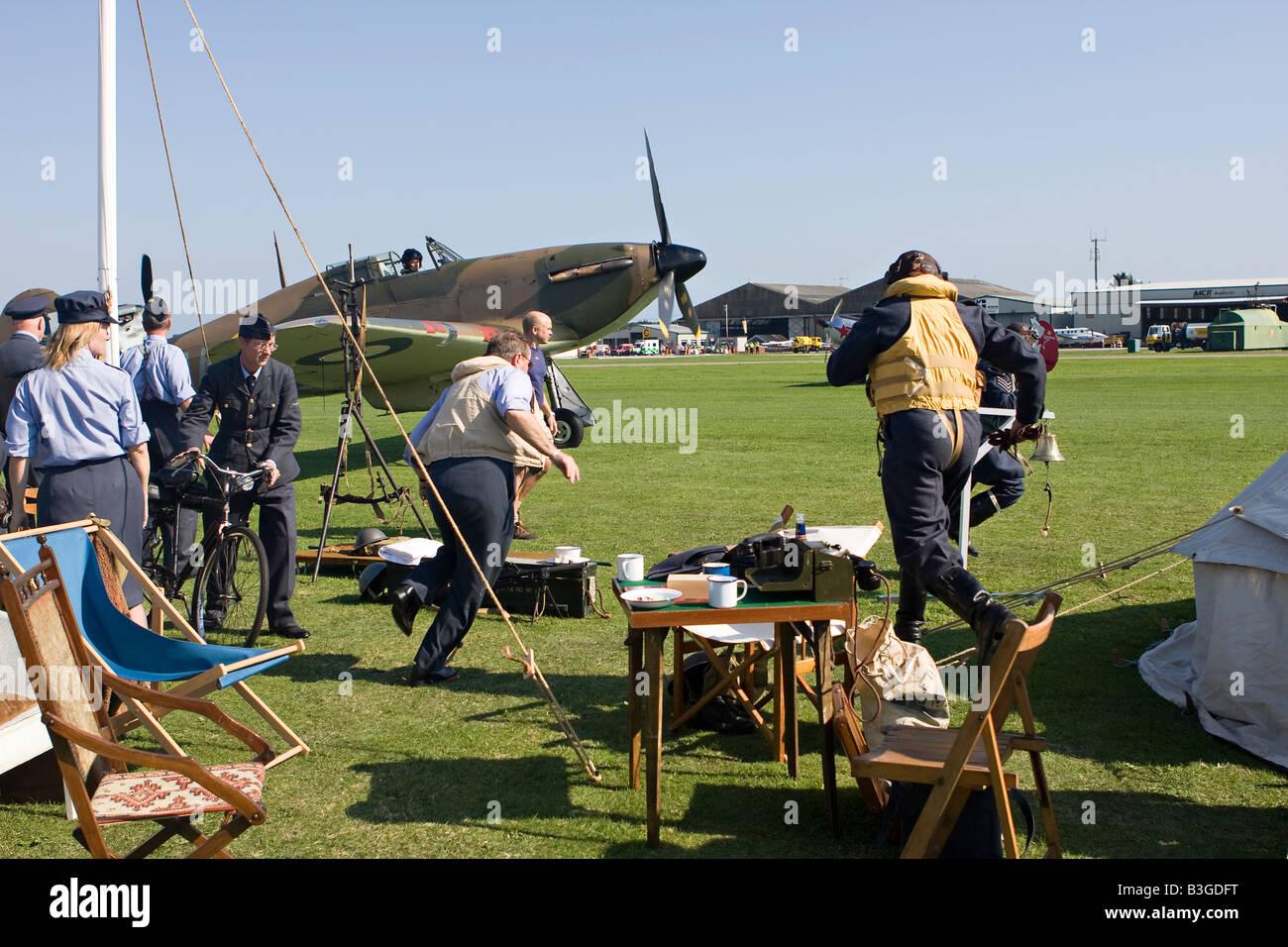 Scramble at RAFA Charity Airshow Shoreham Airport Sussex England - Stock Image