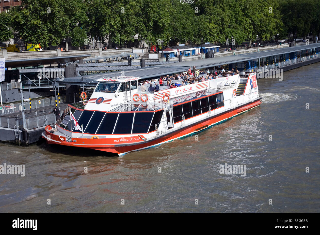 River Cruise Boat River Thames London - Stock Image