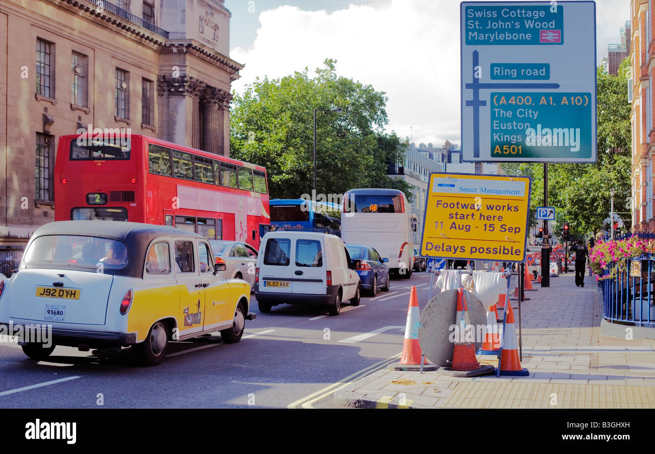 North and West bound Rush hour London Traffic chaos - Stock Image
