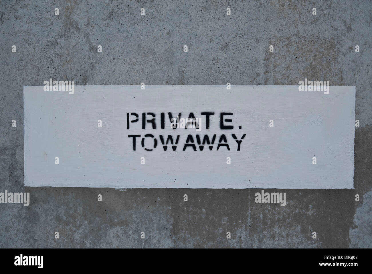 Private towaway sign - Stock Image