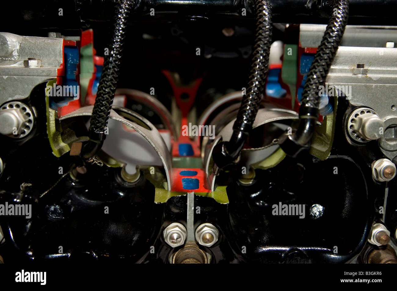 Vehicle old engine parts of plane Stock Photo: 19421114 - Alamy