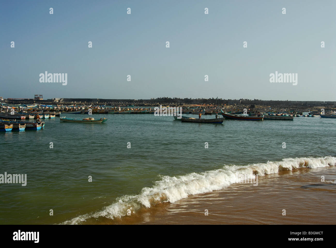 Vizhinjam harbor in Kerala,India - Stock Image