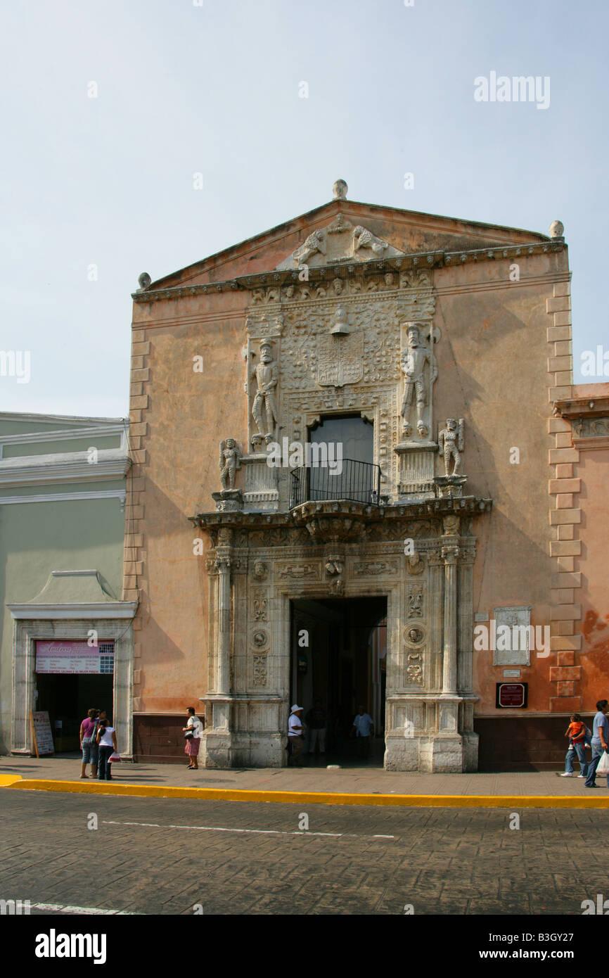 Casa de Montejo, Plaza Major, Merida, Yucatan Peninsular, Mexico Stock Photo