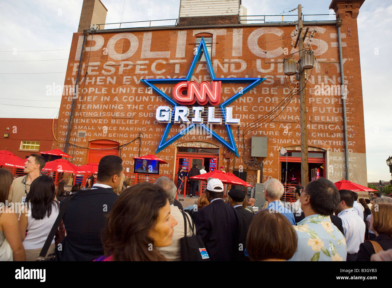 CNN Grill in Denver CO during the Democratic National ConventionStock Photo