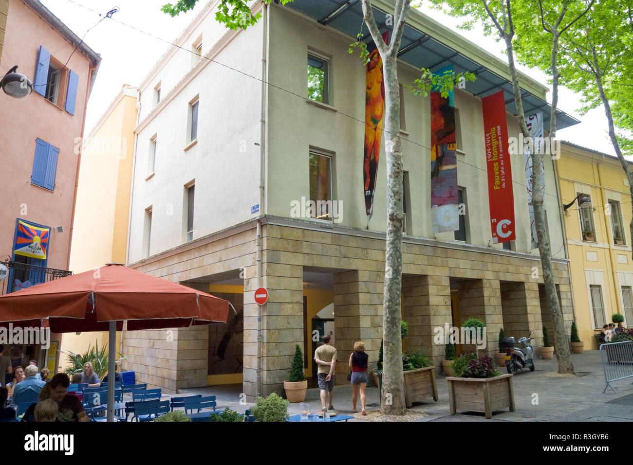 "The ""Musée d' Art Moderne de Céret"" (museum of modern art) in Southern France Stock Photo"