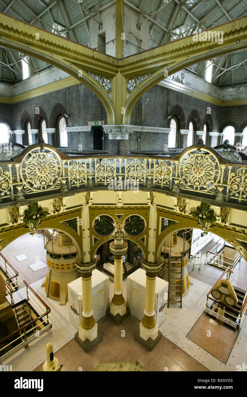 Interior of the old Abbey Mills Pumping Station - Stock Image