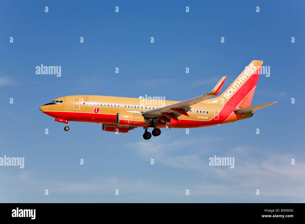 A Southwest airlines Boeing B737 Stock Photo