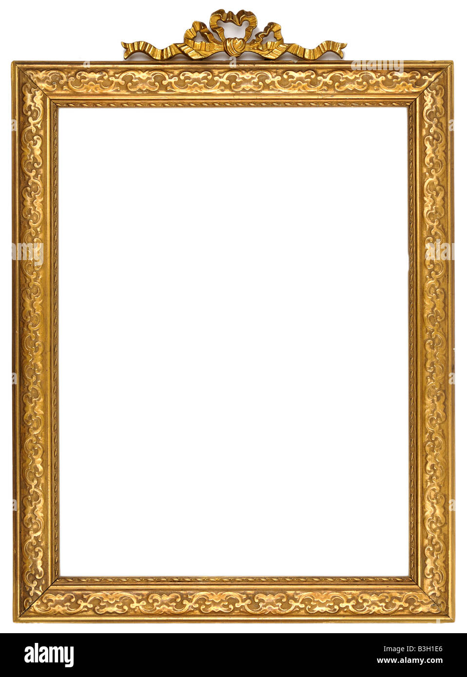 Gold square antique picture frame cutout art craft Stock Photo ...