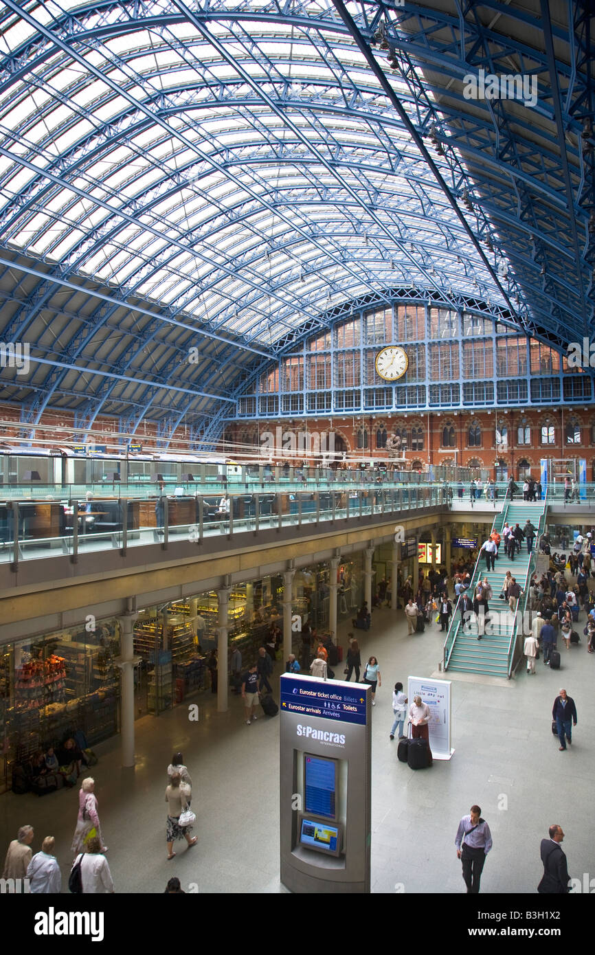 St Pancras Eurostar Station London Stock Photo