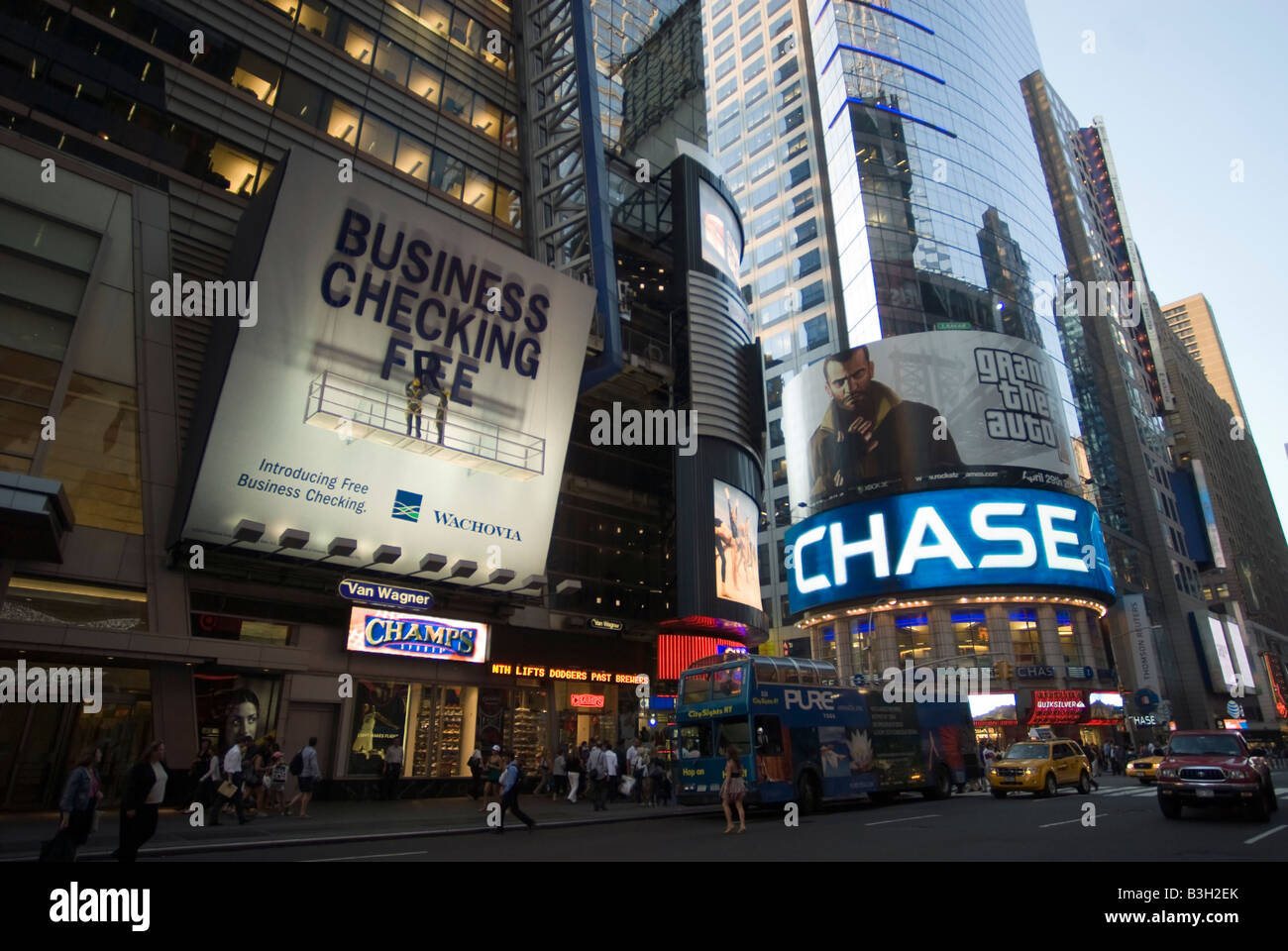 an advertisement for wachovia bank and jp morgan chase bank in times