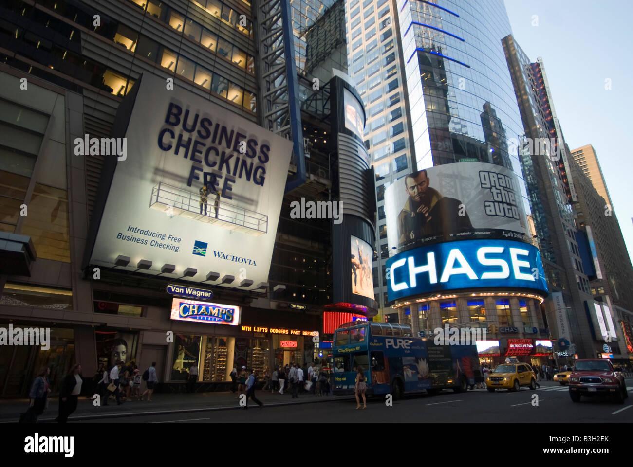 An advertisement for Wachovia Bank and JP Morgan Chase bank