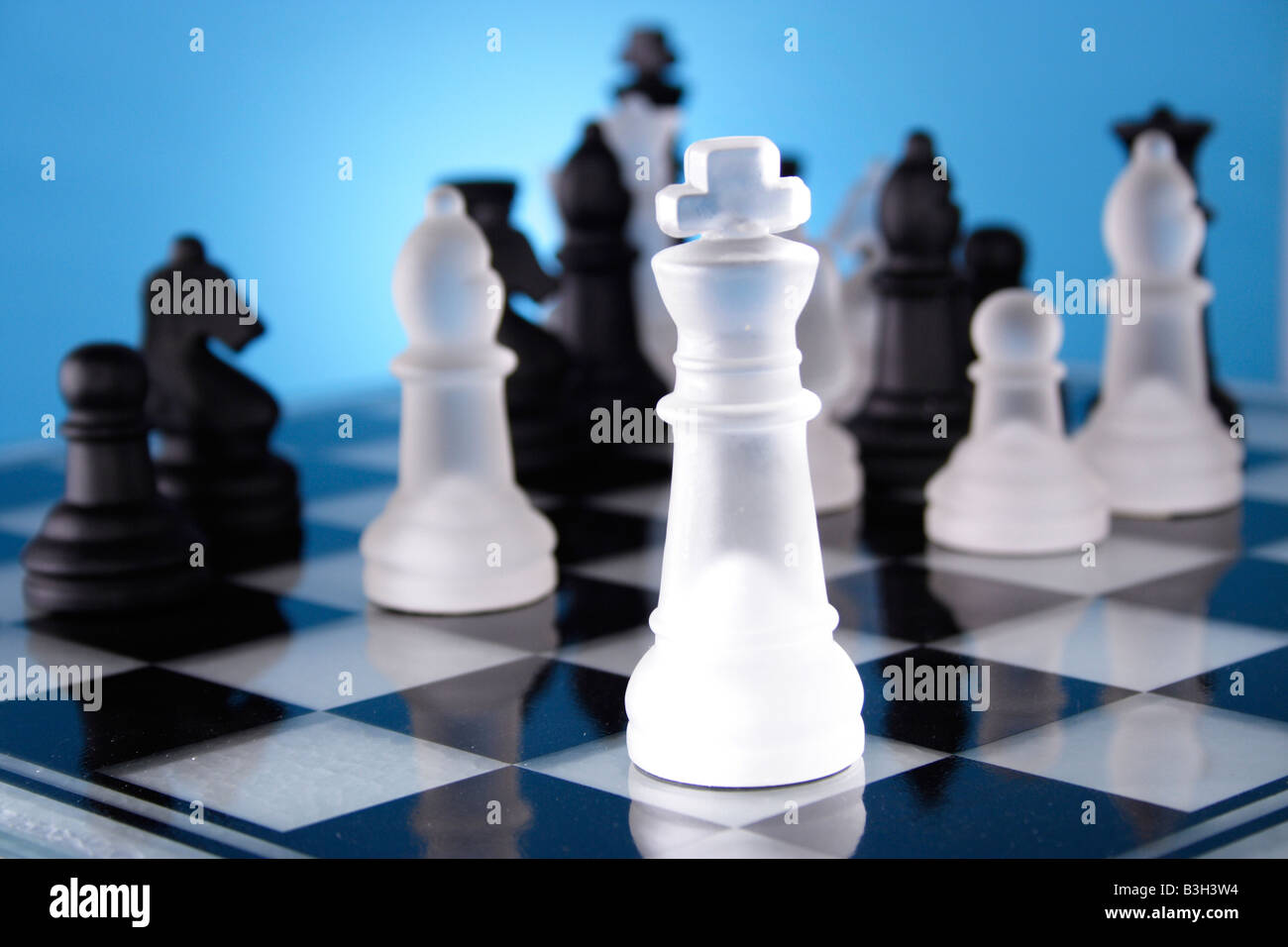 A game of chess comes to an end. The king is checkmated - Stock Image