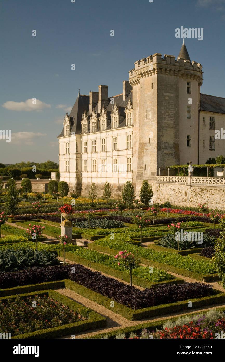 chateau de villandry gardens unesco stock photos chateau. Black Bedroom Furniture Sets. Home Design Ideas