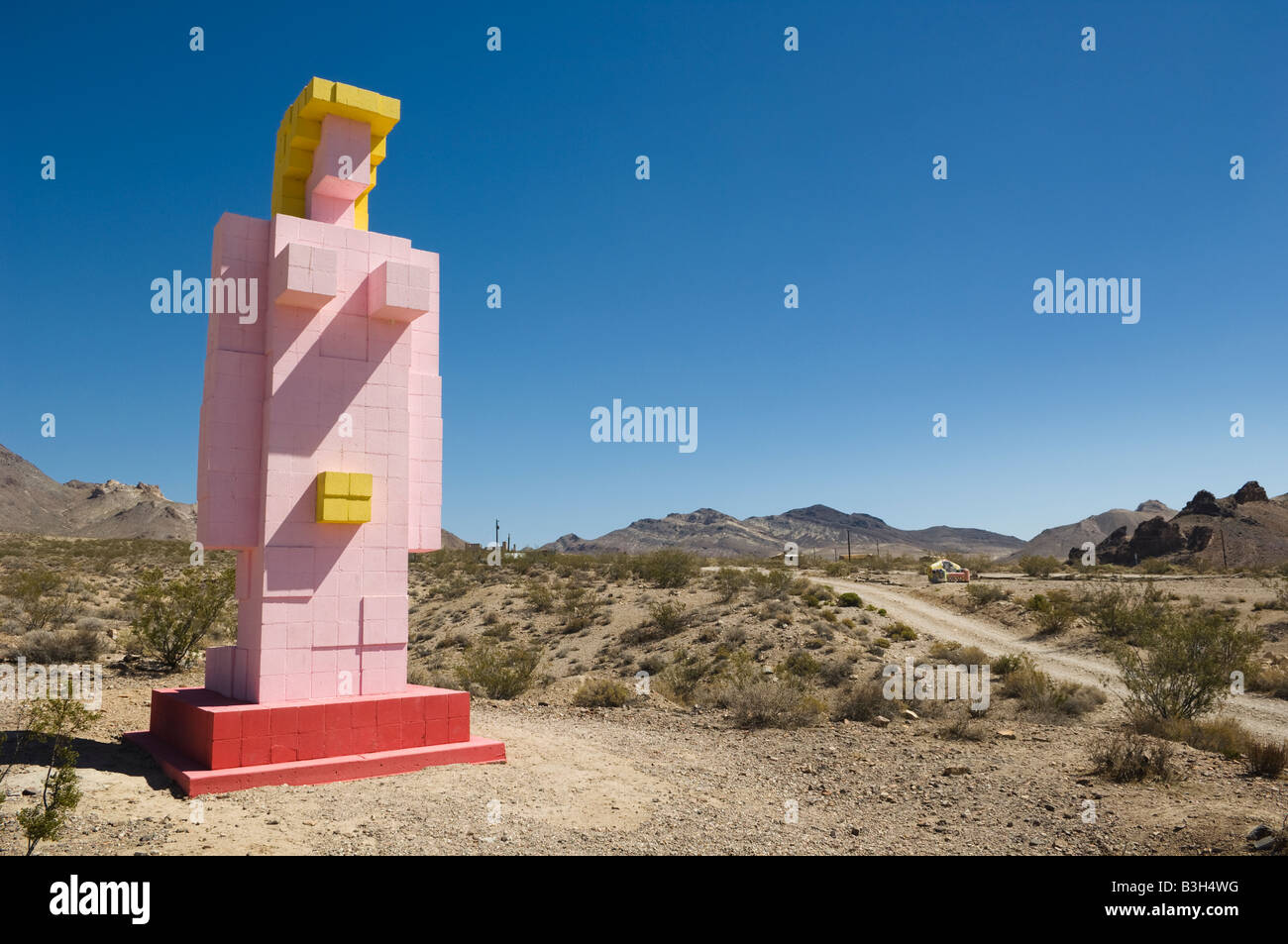 Sculpture 'Lady Desert: The Venus of Nevada' 1992 by Dr. Hugo Heyrman at the Goldwell Open Air Museum in - Stock Image