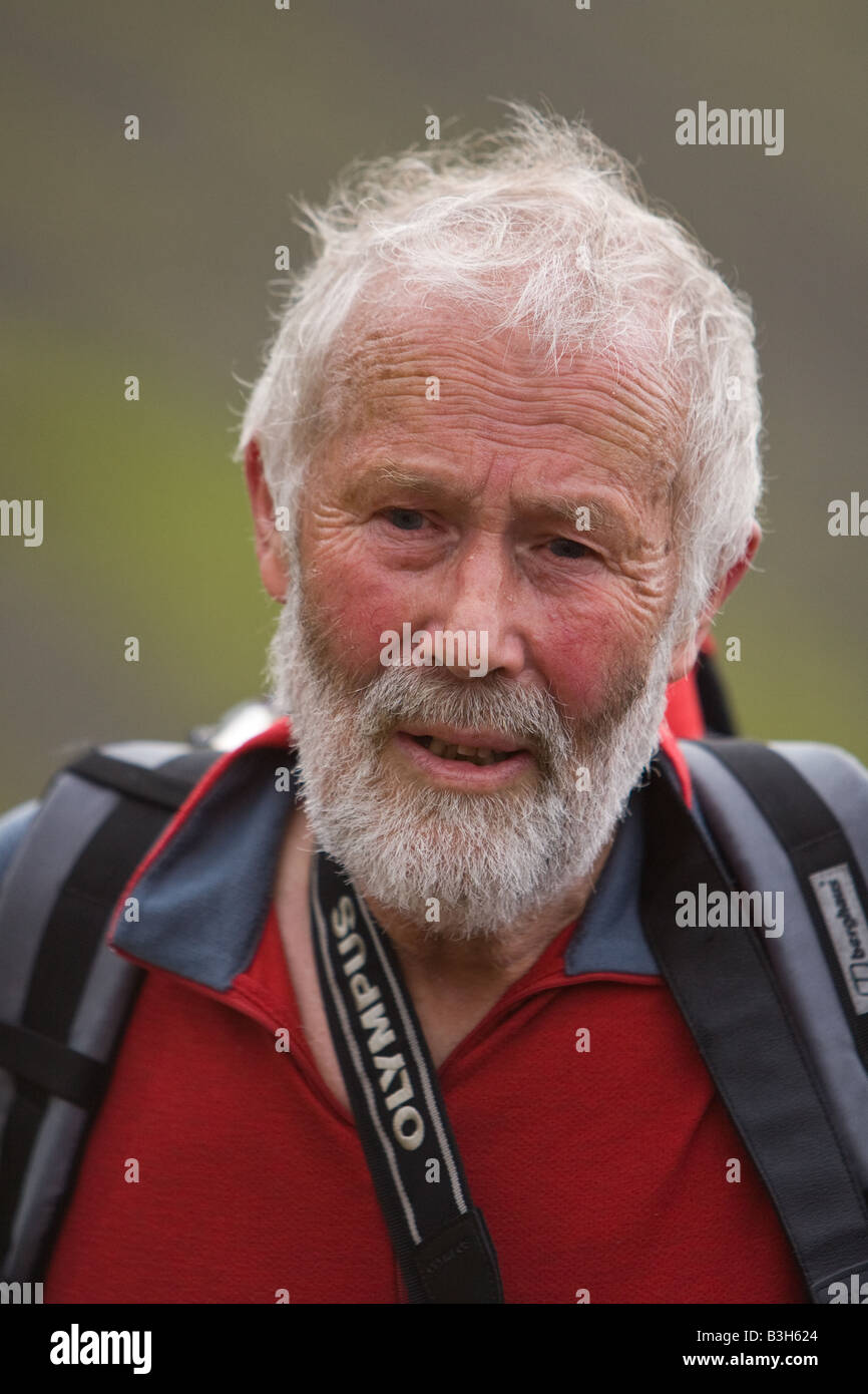 Sir Chris Bonington one of England's foremost mountaineers - Stock Image