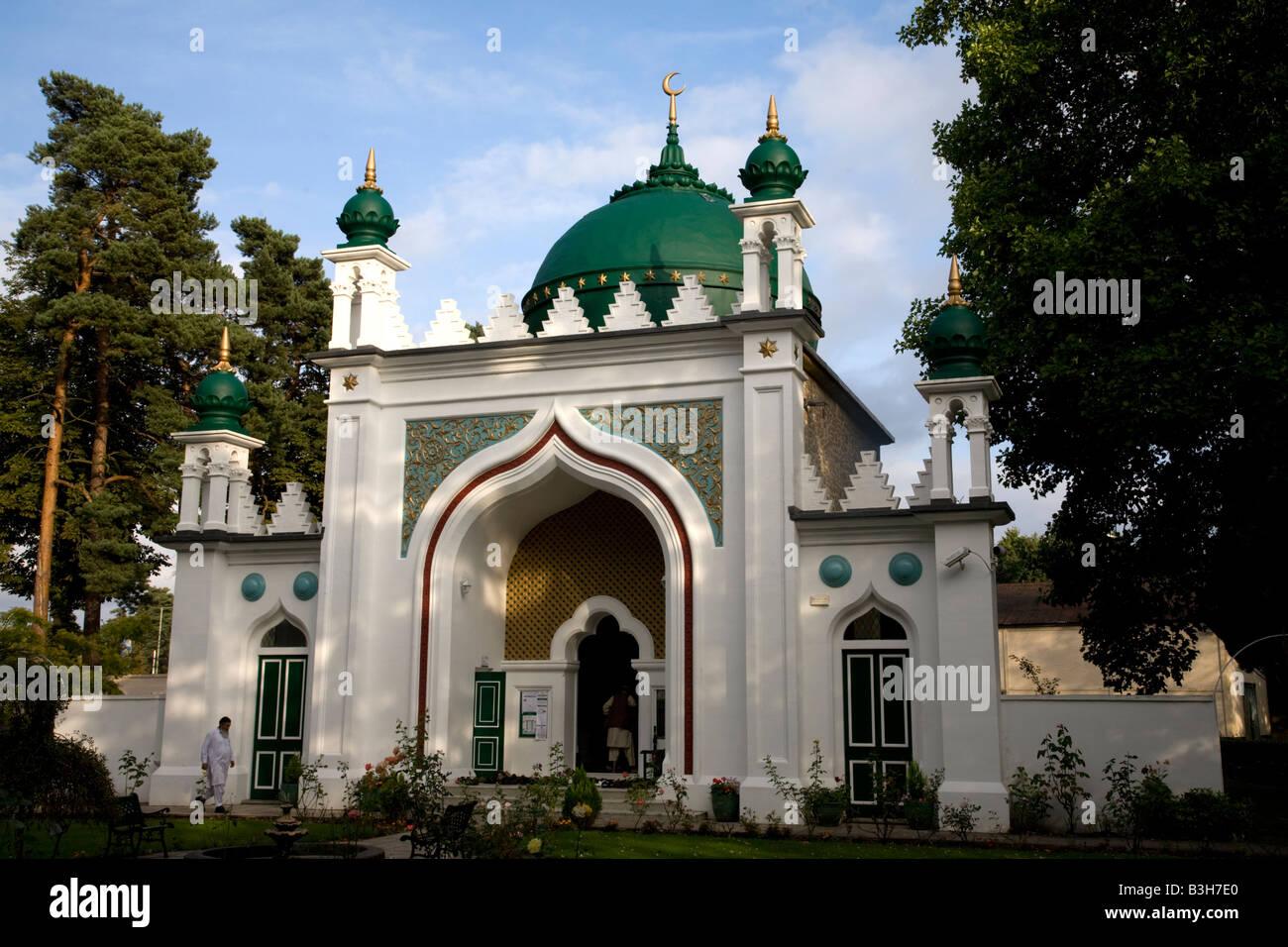 Shah Jahan Mosque Woking Surrey England Stock Photo