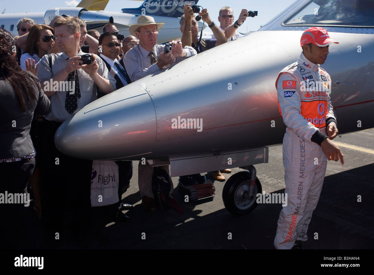 Formula 1 driver Lewis Hamilton attends corporate event at