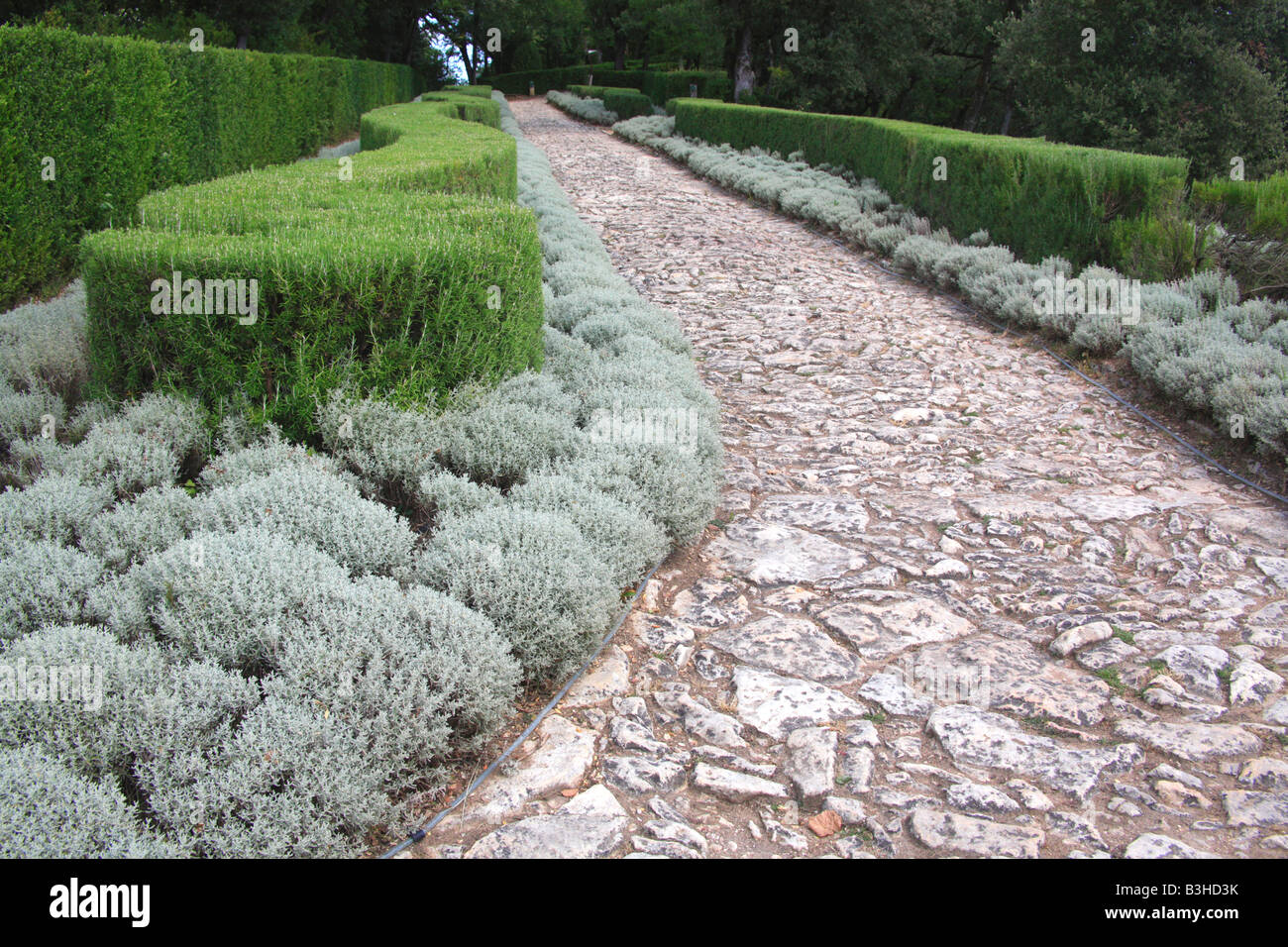 Marqueyssac Garden park Dordogne France Perigord Stock Photo