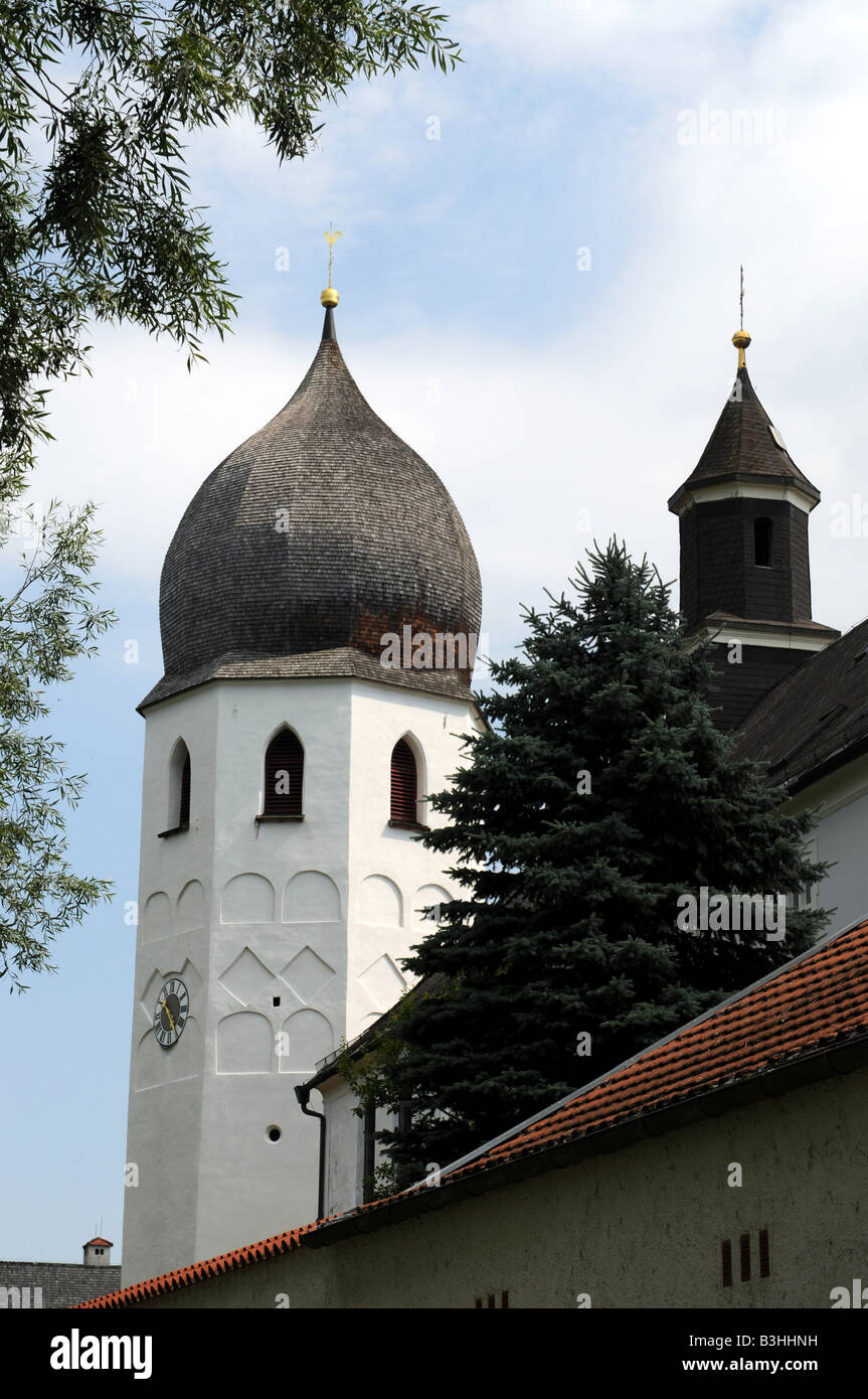 Bell tower Frauenchiemsee - Stock Image