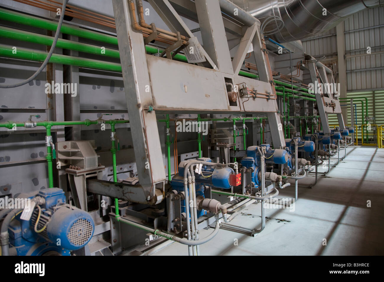 heavy industrial equipment on production line at EISF Steel Plant