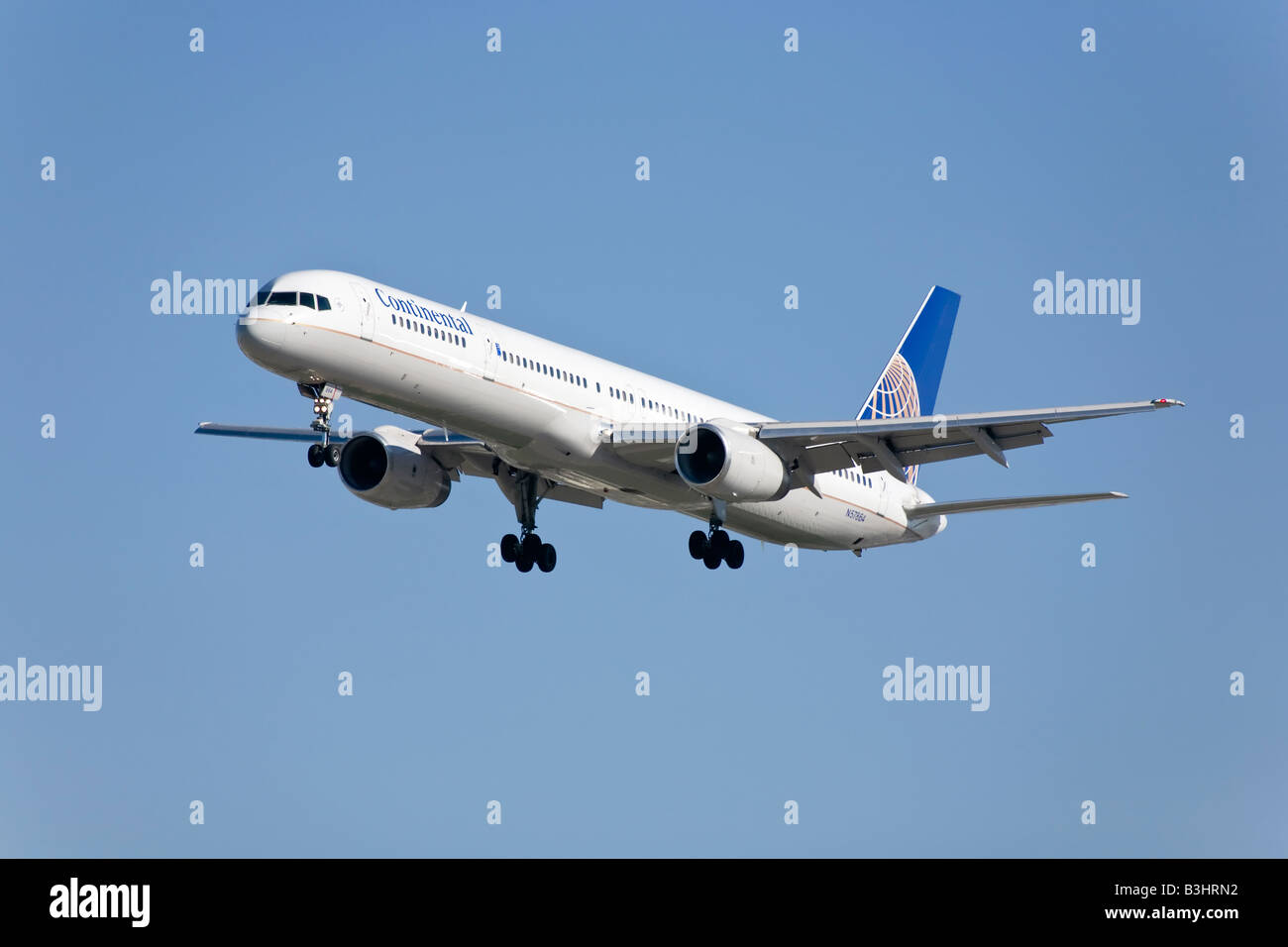 A Continental airlines Boeing B757 - Stock Image